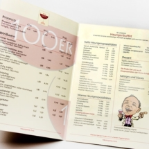 """Speisekarte Restaurant """"Zum 100er"""""""