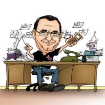 Karikatur Raumausstatter Hutterer
